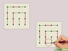 Draw lines, if you are looking for ways to make it to the next level, and here you will find connect dots: How To Play Dots And Boxes 15 Steps With Pictures Wikihow