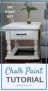a brick home diy chalk paint furniture tutorial this tutorial is so easy and
