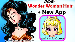 Wonder Woman Hair Style how to draw wonder woman hair new faces hairstyles drawing app 3810 by wearticles.com