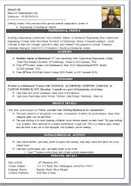 Exclusive Ideas Engineering Resume Format 16 Mechanical ...