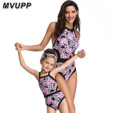 Online Shop <b>one</b> piece <b>mother</b> daughter <b>swimwear mommy</b> and me ...
