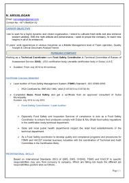 Haccp Consultant Cover Letter Sarahepps Com