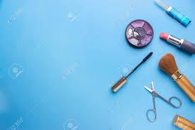 Set Of Professional Decorative Cosmetics Makeup Tools And Accessory