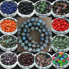 <b>WHOLESALE</b> LOT <b>NATURAL Stone</b> Gemstone Round Spacer ...