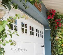 diy faux garage door windows
