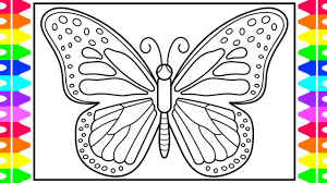 Popular colouring books, worksheets and more from essential kids. How To Draw A Butterfly For Kids Butterfly Drawing For Kids Butterfly Coloring Pages Youtube
