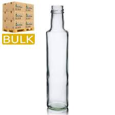 250ml tall slim glass dressing bottle bulk