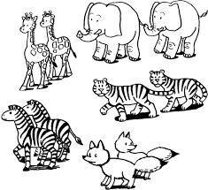 Stampa Disegno Di Coppie Di Animali Da Colorare Con Disegni Di