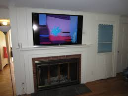 Simple Fireplace Along With Mounting A Tv Over A Fireplace Fireplace Then Tv  Above Tv On