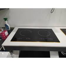 Bếp điện từ đôi âm cảm ứng, hàng cao cấp với công nghệ inventer tiết kiệm  điện tối đa cùng hệ thống tự ngắt an toàn - Bếp điện từ đôi Thương