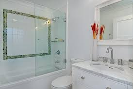 half shower door bathroom contemporary with furniture intended for inspirations 12