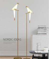 modern floor lamp creative study bedroom living room floor lamp industrial bird floor light fashion origami