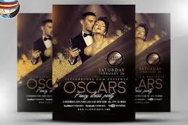 Fancy Flyers Oscars Fancy Dress Party Flyer 2 Gold Template Flyer Fully