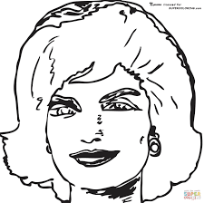 Jackie Kennedy Onassis By Andy Warhol Coloring Page Free Printable