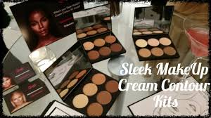 review new sleek makeup cream contour kits with demo