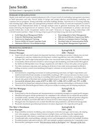 Sample Store Manager Resume Resume Templates For Retail Management