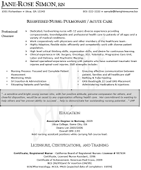 Sample Resume For Registered Nurse  resume template   entry level