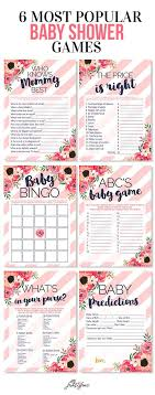 It's a Girl baby shower game card set. blush pink and navy blue with ...