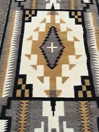 antique navajo rug two grey hills weaving native american storm pattern 1950