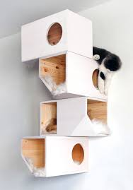 wall mounted cat furniture. Catissa Cat Tree Provides Your Cats Their Own Private Place To Play And Sleep Wall Mounted Furniture