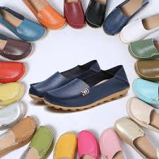 16 colors women s breathable soft leather loafers comfort flats driving shoes indoor outdoors slip on slippers leisure flat casual shoes