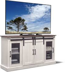 accent and occasional furniture barn door tv stand white