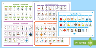 The international phonetic alphabet (revised to 2015). Phase 1 5 Alphabet Phonics Sounds Mat Pack Phonics Stages