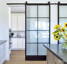 modern and rustic interior sliding barn door designs kitchen door with barn door modern ideas