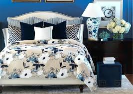 blue and cream bedding navy and white fl duvet cover with regard to cream designs 6 blue and cream bedding