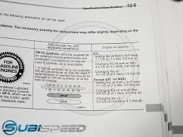 Subaru Oil Capacity Chart 35 Conclusive Oil Change Capacity Chart