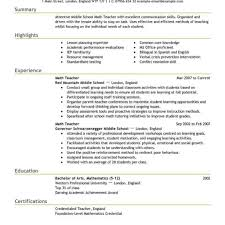 Resume Format For Usa Resume Template Easy Http Www