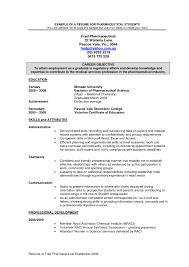 Pharmaceutical Regulatory Affairs Resume Sample New Cover Letter