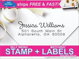 Return Address Stamp Return Address Labels Wedding Address Etsy