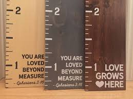 Custom Painted Wooden Growth Chart Ruler Oversized Kids