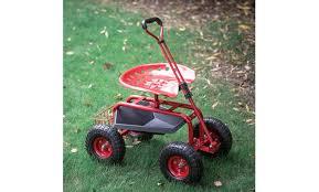 kinbor garden cart rolling work seat w