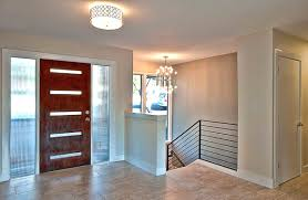 view in gallery modern door with horizontal glass panes