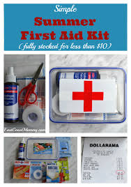 perfect first aid kit for under 10 i now have everything i need in one place i can treat my boys injuries quickly and i can send them back into the