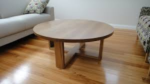 ... Coffee Table, Australian Custom Made D E L L I S Round Oak Coffee Table  Mission Style Round Coffee Table ...