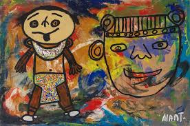 The dad and his son - Alan Tellez - WikiArt.org