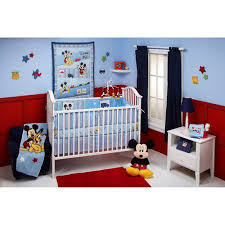 mickey mouse crib sheet set disney baby mickey mouse and pluto 4 piece crib bedding set