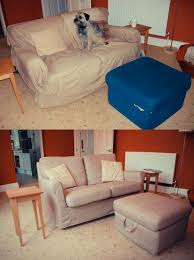 Unique Sofa Covers Before After And Tomelilla Lookalive Footstool In Inspiration