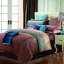egyptian cotton purple blue comforter bedding set king size queen size satin duvet cover bedspread sheets