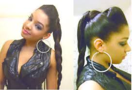 Quick Ponytail Hairstyles Bump Hair Braid Ponytail Hairstyle Tutorial How To Easy Quick