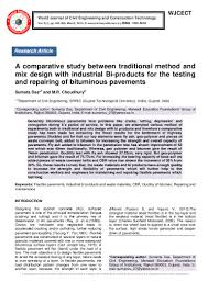 Bitumen Sand Mix Design A Comparative Study Between Traditional Method And Mix