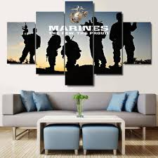 united states marines 5 piece canvas wall art print limited edition on 5 canvas wall art custom with united states marines 5 piece canvas wall art print limited