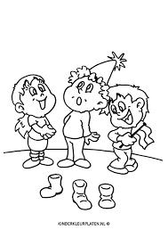 Kleurplaat Sinterklaas Schoen Zetten Feestdagen