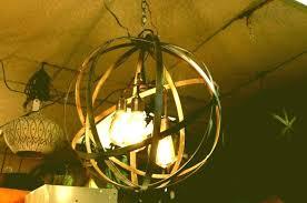 metal sphere chandelier orb chandelier sphere chandelier industrial sphere chandelier metal strap globe hanging light metal
