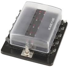 10 way blade fuse block with led indicators jaycar electronics blue sea relay block at Dc Fuse Box