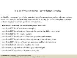 Collection Of Solutions Top 5 Software Engineer Cover Letter Samples