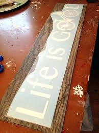 silhouette wooden signs how to hang a sign fake vinyl and wood with look tiles school